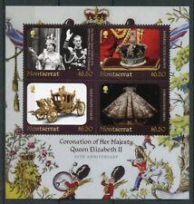 Montserrat 2018 neuf sans charnière Queen Elizabeth II Coronation 65th Ann 4 V M/S Royalty timbres