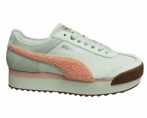 Puma Roma Amor Heritage Peach Low Lace Up Womens Trainers 370947 02