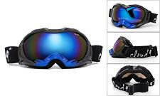 Ski Snowbard Goggles Winter Sonw Anti Fog Impact Resistant Lens 100% UV w/ Pouch