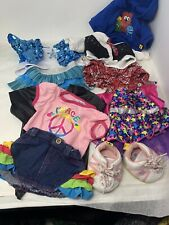Lot of Girl Build A Bear Clothes 11 piece Skirts Tops Dress Shoes Sequins Denim