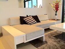 Classy White Gloss DESIGNER COUCH - L-shape