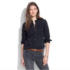 0efae71dedee88 MADEWELL Womens XSmall Cotton Shirt Button Up Western Black Wash