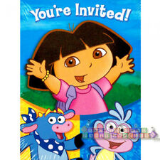 DORA THE EXPLORER Party INVITATIONS AND THANK YOU NOTES (8) ~ Birthday Supplies