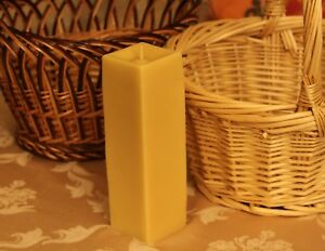Handmade 100% Pure Beeswax Rectangular Square Candles Cotton Wick US made