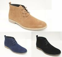 MENS DESERT BOOTS SUEDE STYLE LACE UP ANKLE SHOES SIZE CASUAL 6 7 8 9 10 11