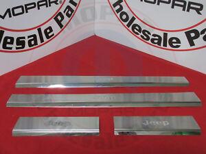 JEEP LIBERTY Polished Chrome Door Sill Guard Kit NEW OEM MOPAR