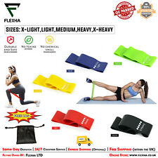 5 pcs Pure Latex Mini Loop Resistance bands for Home Workout & Yoga Glutes Set