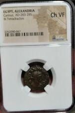 Carinus, AD 283-285 (BI Tetradrachm)  Ch VF NGC. Alexandria Egypt