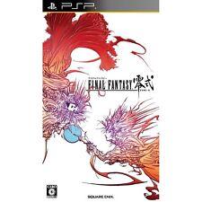 PSP Final Fantasy Type 0 Zero Rei Shiki Japan Import Free Shipping SONY F/S