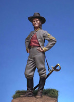 Sergeant Major confederate cavalry 54mm Tin Painted Toy Soldier | Art Quality