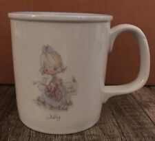 Precious Moments 1987 July Collectible Coffee Mug Cup