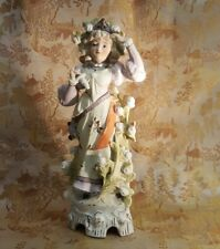 Antique Lady Figurine German Porcelain Gräfenthal Schneider Victorian 1879-1886