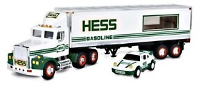 HESS Gasoline Toy 18 Wheeler Truck and Racer Car 1992 Two Pieces 16 inches Long