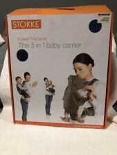 Stokke MyCarrier $269 Baby Carrier Navy Cream Carry 3 In 1 Backpack Front Facing