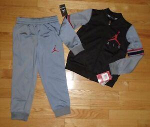 Air Jordan Nike Boys Track Suit Athletic Pants Warm Up Jacket 4 6 7 NWT