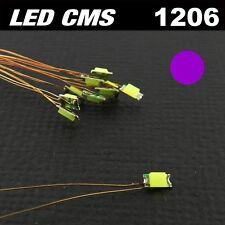 C116# LED CMS pré-câblé 1206 violet / rose fil émaillé 5 à 20pcs - prewired