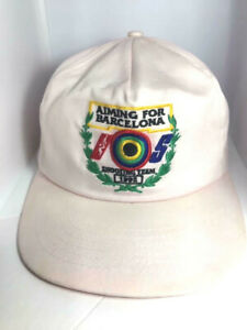AIMING FOR BARCELONA IOS SHOOTING TEAM 1992 Baseball Cap Hat