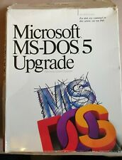 Microsoft MS-DOS 5 Upgrade Operating System Retail Boxed RARE! 3.5 Disks &Manual
