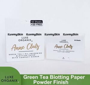 Luxe Organix Green Tea Blotting Paper Powder Finish
