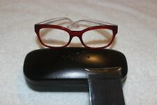 45daa2dc1c3 NEW Authentic Coach Burgundy And Clear Eyeglasses Frame