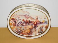 VINTAGE 1988 SUNSHINE BISCUITS C M RUSSELL  A BIERSTADT AMERICAN MASTERS TIN
