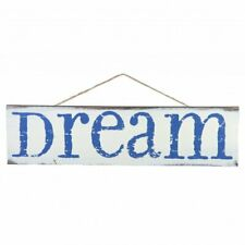 "White Wooden Blue Dream Sign - 20"" x 5"", Rustic Wall Decor"