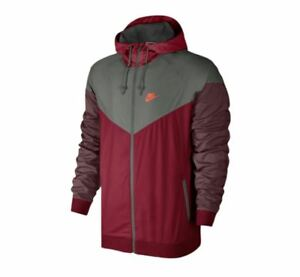 Nike Men's WINDRUNNER Jacket Tough Red/Grey 727324-608 b