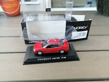1/43 . PEUGEOT 405 T16 de 1993 NOREV IN RED NEW OVP V SELTEN!!