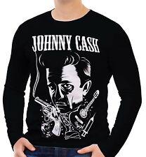 Johnny Cash Herren Langarm T-Shirt Tee wa2 aao20161