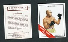 """IDEAL ALBUMS LTD 1991 SET OF 2 """"PROMOTIONAL CARDS"""" DEMPSEY JOHNSON BOXING CARDS"""