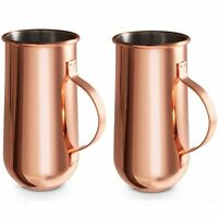 VonShef Beer Tankards Tall Coffee Copper Mugs Set of 2 Gift Party