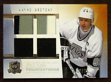 2009/10 WAYNE GRETZKY CUP FOUNDATIONS QUAD GAME USED JERSEY 3 COLORS / 25