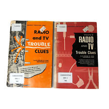 Radio and TV Trouble Clues Sams Vintage LOT 2 Books Vol 1 2 Ex Library 1961 1965
