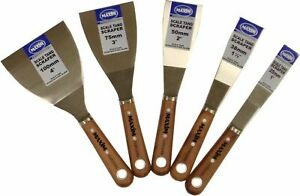 """Maxim Scale Tang Steel Paint Scrapers & Flexible Fillling Knife 1""""/1.5""""/2""""/3""""/4"""""""