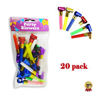 Party Bag COLOURFUL Tooters Blowers Fun Toys Table Decoration Celebration 20
