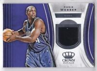 2018-19 Chris Webber Jersey Panini Crown Royale Relic Sacramento Kings