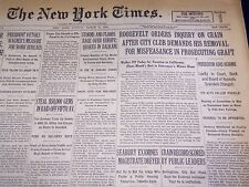 1931 MAR 8 NEW YORK TIMES - ROOSEVELT ORDERS INQUIRY ON CRAIN - NT 2156