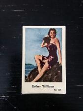 1956 VINTAGE SWEDISH DUTCH GUM MOVIE STAR CARD #NR 791 ESTER WILLIAMS PSA NR791
