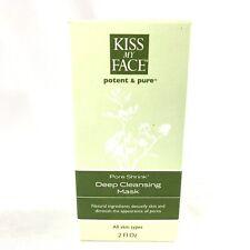 Kiss My Face Potent & Pure Pore Shrink Deep Cleansing Mask 2 fl oz Cream Nib
