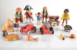 LEGO Playmobil Pirates Figures and Parts Canons Chest Skull Lot