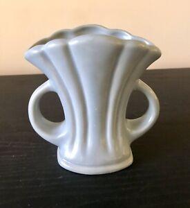 Vintage Art Deco Crown Urn Vase - Grey Blue - # 76 - Unused