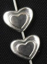 Wholesale 35/76Pcs Tibetan Silver Heart Spacer Beads 10x8mm(Lead-free)