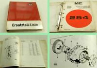Massey Ferguson MF 254 Ersatzteilliste Parts List Pieces de Rechange 1979 - 1980