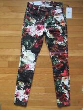 7 FOR ALL MANKIND SUPER SKINNY FLORAL JEANS, NWT $199, 25