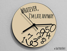 Whatever I'm Late Anyway / Round Beige - Wall Clock