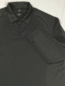 Nike Golf Men's 2XL Shirt Gray Long Sleeve Fit Dry Polyester Golf Logo
