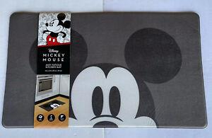 Disney MICKEY MOUSE Anti-Fatigue Cushioned Padded Kitchen Mat 18x30 Black Gray