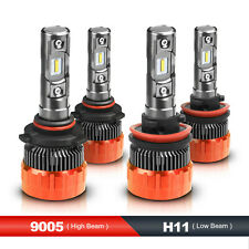 MOSTPLUS 160W Focused LED Headlight High/Low Beams 9005+H11 6000K 4PCS Bulbs