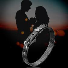 For Women Men Fit Original Black 10Mm Stainless Steel Mesh Watch Belt Bracelets