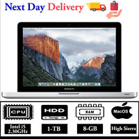 "Apple Macbook Pro 13.3"" Intel Core i5 2.3GHz 8GB RAM 1TB HDD High Sierra A Grade"